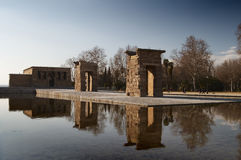 View of Temple of Debod, Madrid, Spain Royalty Free Stock Photo