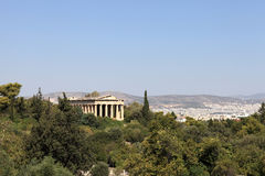 View of Temple of Hephaestus Royalty Free Stock Image