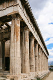 View of Temple of Hephaestus in Athens Royalty Free Stock Photos