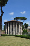 View of the Temple of Hercules Boario Forum. Royalty Free Stock Photo