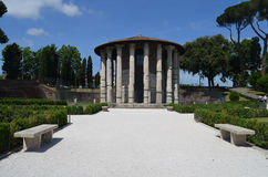 View of the Temple of Hercules Boario Forum. Royalty Free Stock Photos