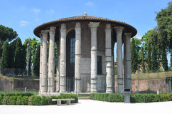 View of the Temple of Hercules Boario Forum. Stock Photography