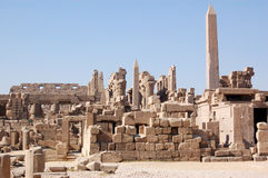 View of the Temple of Karnak Stock Photos