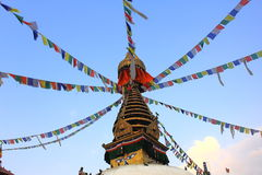 View of temple in Kathmandu Royalty Free Stock Photo