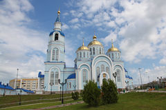 View at Temple of Kazan icon of the mother of god in Saransk, Repulic Mordovia. Views of Russia. Temple of Kazan icon of the mother of god in Saransk, Repulic Stock Photos