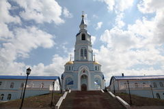 View at Temple of Kazan icon of the mother of god in Saransk, Repulic Mordovia. Views of Russia. Temple of Kazan icon of the mother of god in Saransk, Repulic Royalty Free Stock Photos