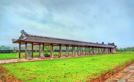 The Temple of Literature in Hue, Vietnam. VIew of the Temple of Literature in Hue, Vietnam stock photo