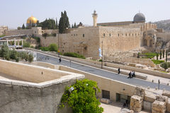 View of the Temple Mount, Jerusalem Royalty Free Stock Photography