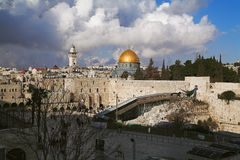 View at the Temple Mount in Jerusalem Stock Images