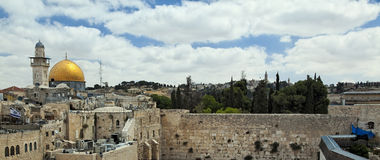 Jerusalem Temple Mount View Royalty Free Stock Image