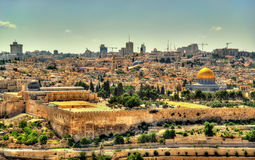 View of the Temple Mount in Jerusalem Stock Image