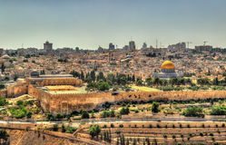 View of the Temple Mount in Jerusalem Stock Photos
