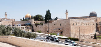 View of the Temple Mount in the Old  City of Jerusalem, Israel Stock Photos