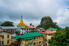 View of Temple On Mount Popa, Near Bagan, Myanmar Royalty Free Stock Image