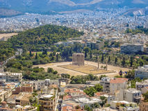 View of the Temple of Olympian Zeus Royalty Free Stock Image