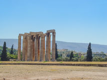 View of the Temple of Olympian Zeus. Athens, Greece - August 23, 2011: View of the Temple of Olympian Zeus in Athens, Greece Stock Photography