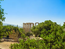 View of the Temple of Olympian Zeus. Athens, Greece - August 23, 2011: View of the Temple of Olympian Zeus in Athens, Greece Stock Image
