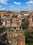 View of the Temple of Romulus, from the Palatine Hill, Rome Royalty Free Stock Image