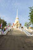 The view of the temple stairs Royalty Free Stock Photo