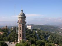 View From The Temple Of Tibidabo In Barcelona Royalty Free Stock Images