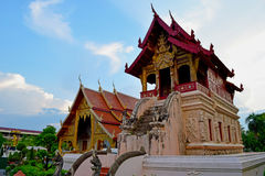 View temple (Wad Phra Sing) , Chiangmai Thailand. Stock Image