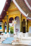 View of the temple Wat Sensoukaram in Louangphabang, Laos. Copy space for text. Vertical. Stock Images