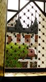 View through temple window Royalty Free Stock Photos