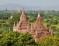 A view at the temples of Bagan in Myanmar Stock Photography