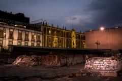View of Templo Mayor, Mexico City, Mexico royalty free stock photography