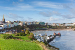View of Tenby town and harbour Pembrokeshire Wales UK Royalty Free Stock Photography