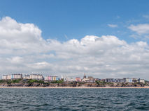View Tenby Wales. View Tenby taken at sea on the boat to  Caldey Island Royalty Free Stock Images
