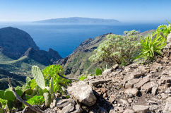 View from Tenerife to La Gomera Royalty Free Stock Image