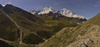 View of Tengboche monastery with mountains background. Nepal 2015 Stock Photos