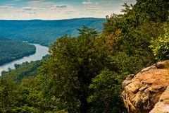 Signal Mountain view. View of the Tennessee River north of Chattanooga from a viewpoint on Signal Mountain Stock Photography
