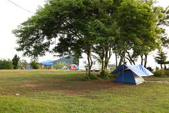 View And tent camping A royalty free stock image