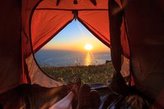 View from the tent Royalty Free Stock Images