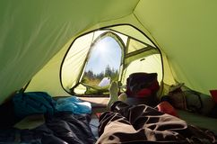 View from tent Royalty Free Stock Photography