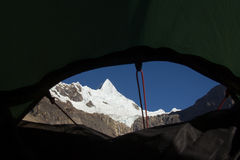 View from the Tent Window Stock Photography