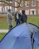 A view from the tents at the Occupy Exeter camp Royalty Free Stock Photography