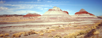 A view of the Tepees Stock Photo