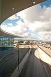 View from the terminal. View from the he new International Airport Terminal in Gibraltar. The frontier with spain and control area Royalty Free Stock Photography