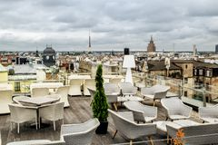 The view from the terrace cafe on the roof of the Mall Gallery i Royalty Free Stock Image
