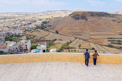 View from the terrace of the Citadel, Gozo, Malta Royalty Free Stock Photo