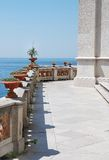 View from the terrace of luxury villa royalty free stock images