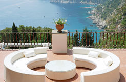 View from the terrace of luxury villa Royalty Free Stock Photos