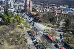 View from the terrace to the rakovica municipality stock images