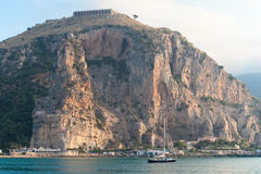 View of Terracina port, Italy in the morning Stock Photo