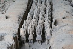 View of the terracotta warriors site in Xi`an - Imagen royalty free stock image