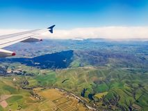 View and the terrain is the plains grasslands. And the atmosphere is pleasant to the touch The country of New Zealand Stock Photography