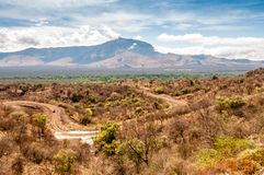 View of the territory of the tribe Mursi Royalty Free Stock Photos
